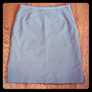 Vintage Liz Claiborne Gingham Black White Skirt